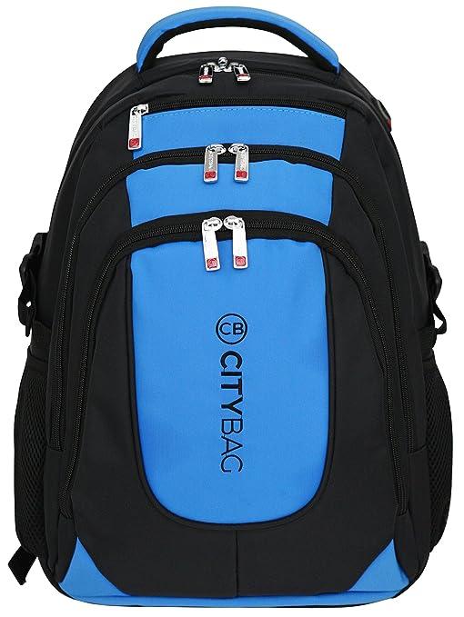 17 opinioni per Zaino porta laptop da 15,6 pollici- impermeabile e traspirante- Blu