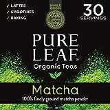 Pure Leaf 100% Organic Matcha Green Tea Powder for Green Tea Matcha Latte, Matcha baking recipes, Green Tea Smoothies…