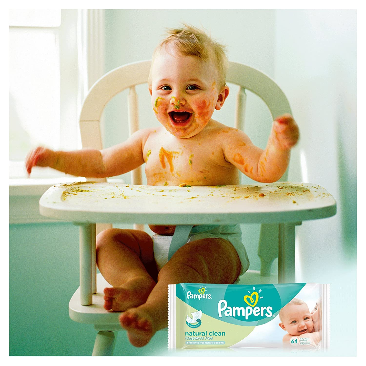 Pampers Natural Clean Wipes - 12 x Packs de 64 (768 toallitas húmedas): Amazon.es: Salud y cuidado personal