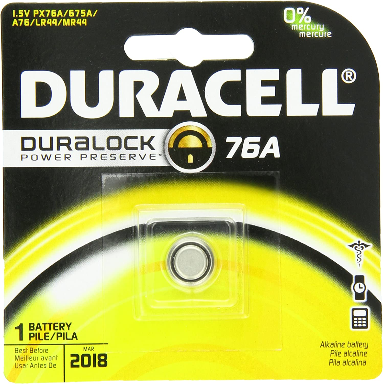 1 Count Duracell 76A Medical Battery 1.5 Volt Alkaline