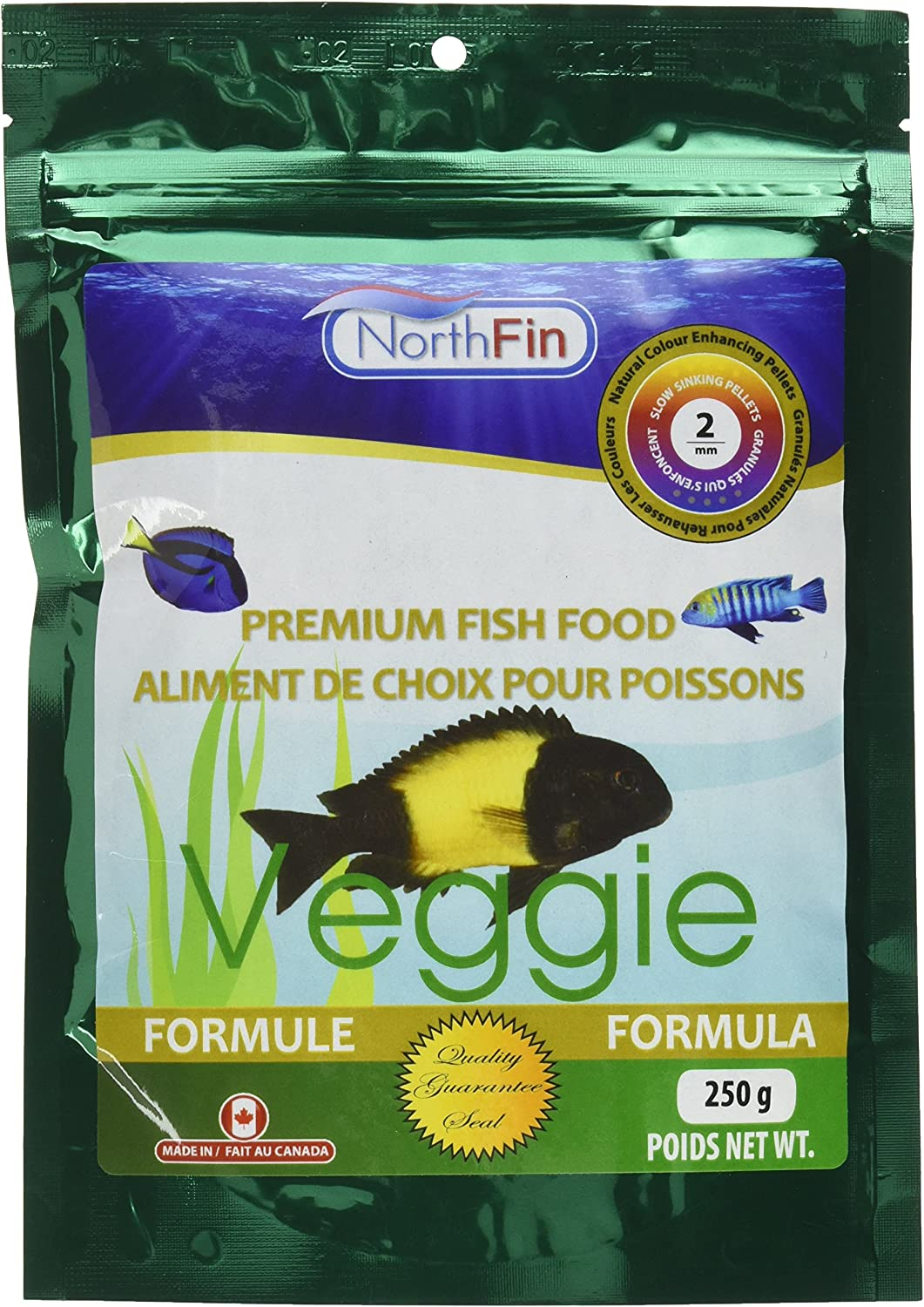 Northfin Food Veggie Formula 2Mm Pellet 250 Gram Package