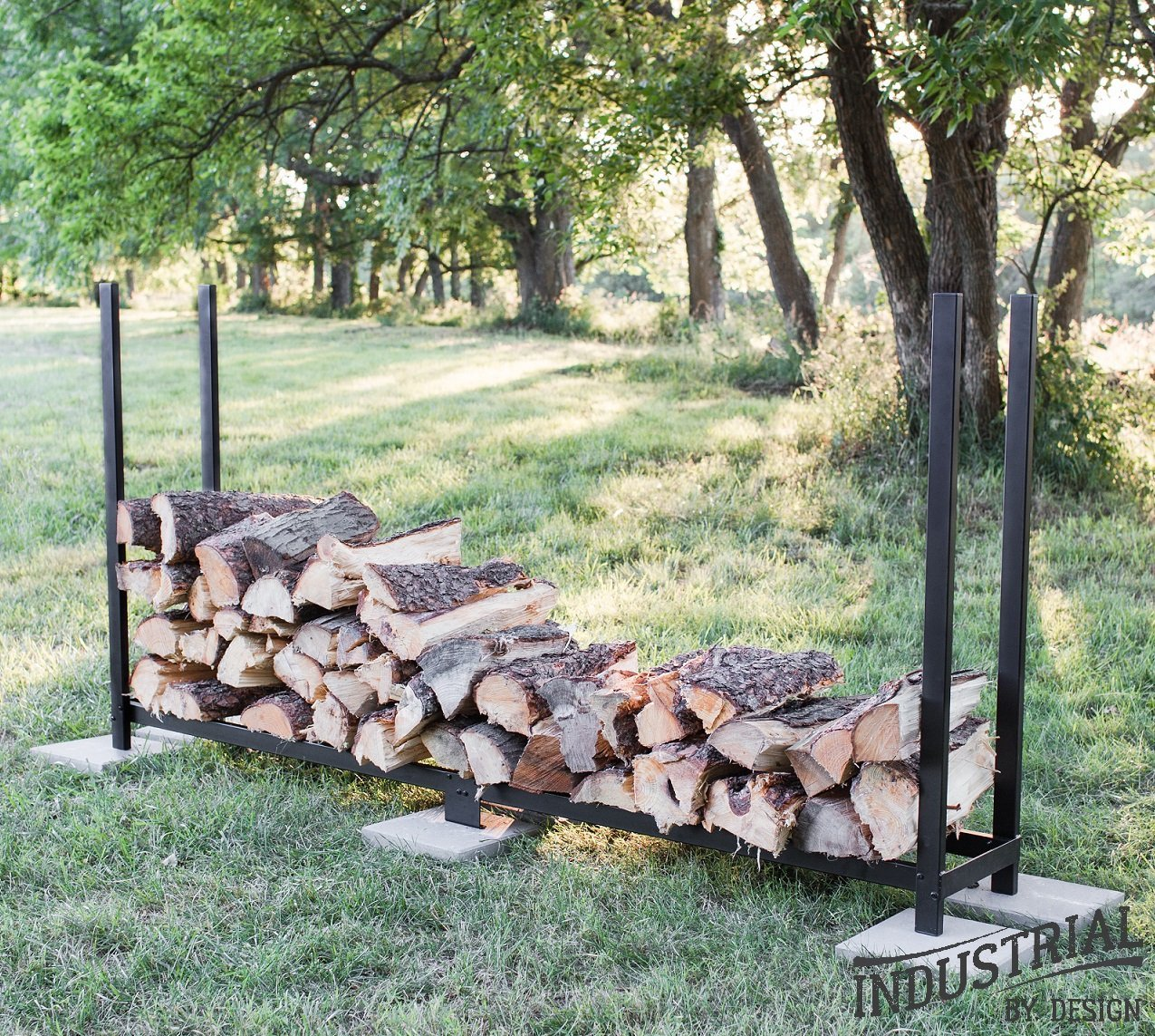 4-Foot Heavy Duty Firewood Rack ▫ Strong Powder Coated Finish, Approved for Outdoor Storage Rack Use ▫ Arc Welded End Sections ▫ Protective Soft Rubber Top Caps ▫ Easy Step-By-Step Assembly Industrial By Design IBD.4.LOGRACK