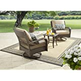 Better Homes and Gardens Colebrook 3-Piece Outdoor Chat Set, Seats 2 (Tan)