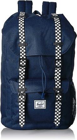 One Size Herschel Retreat Youth Kids Backpack Black//Checkerboard Rubber