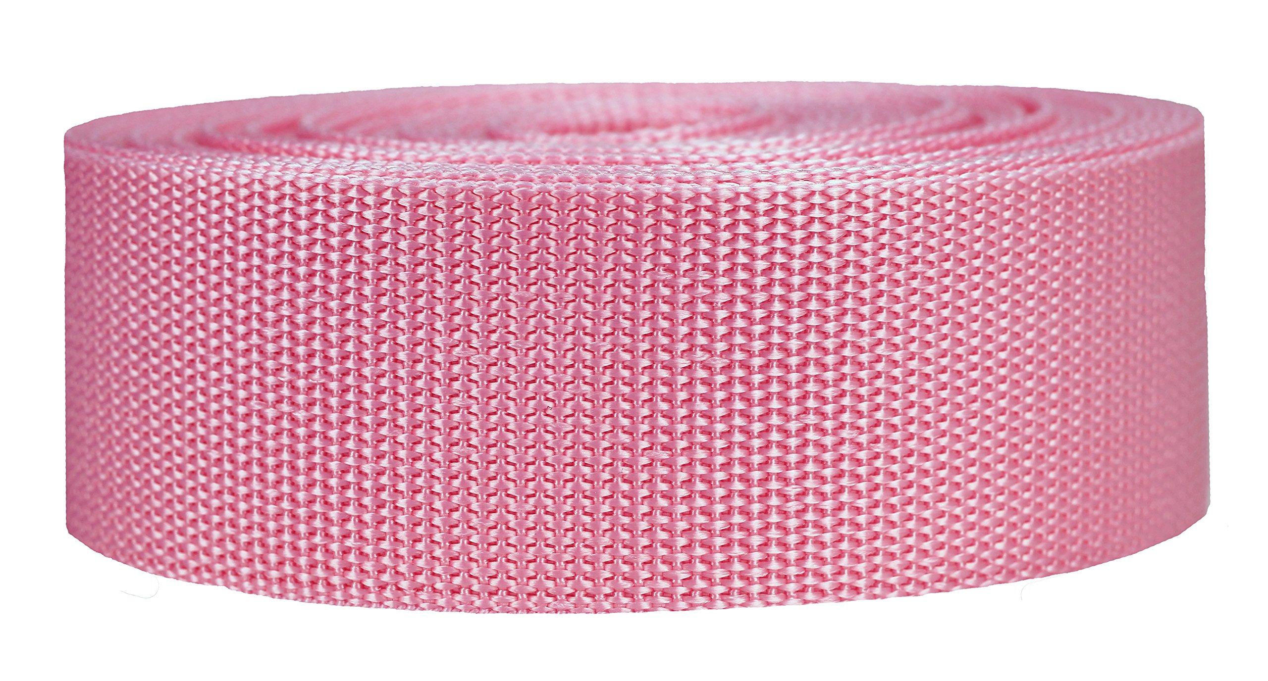 Strapworks Heavyweight Polypropylene Climbing Webbing, Pink, 2'' x 25 yd