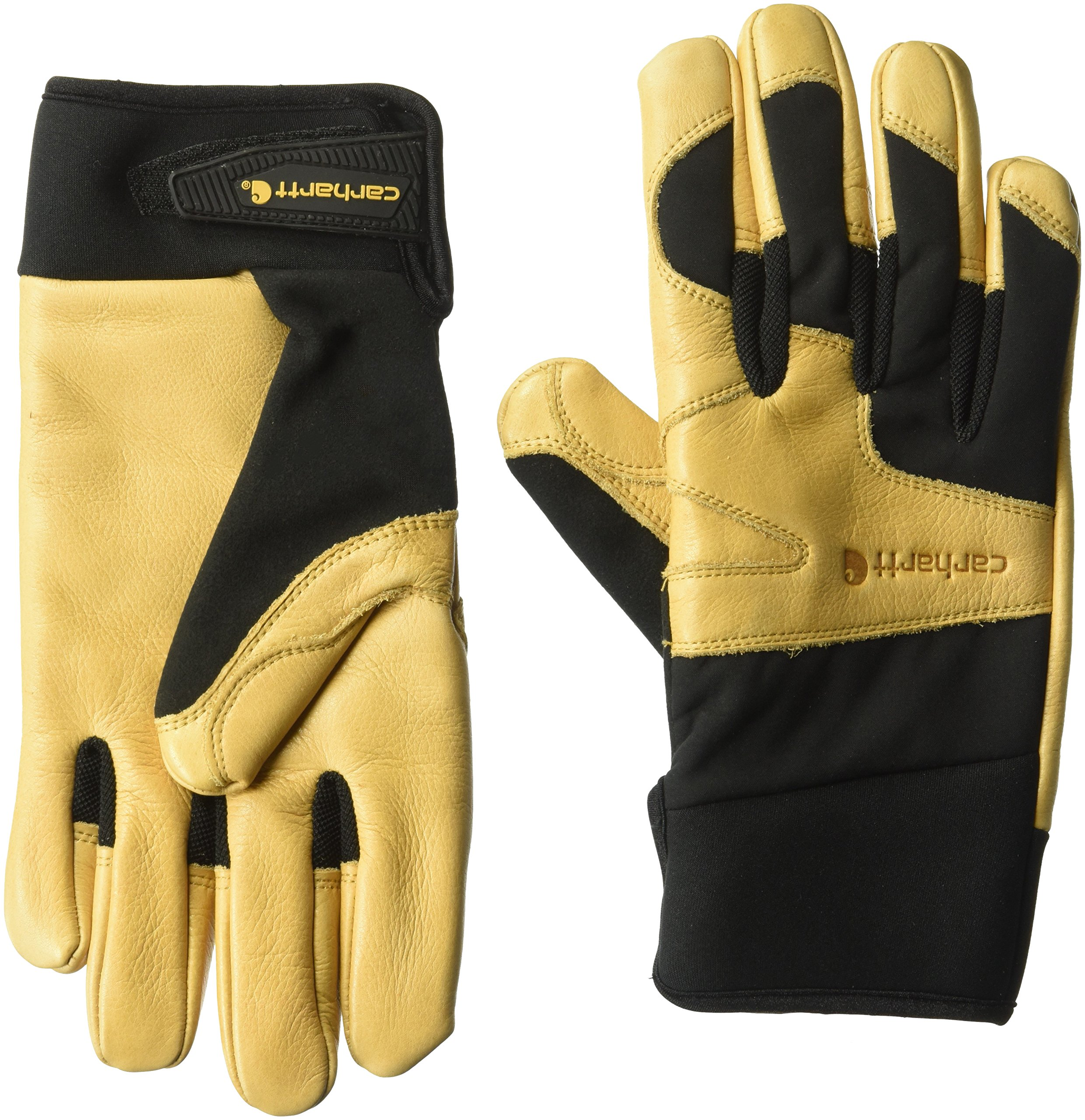 Carhartt Men's Lined Dex Cow Grain Glove, black/Brown, Medium