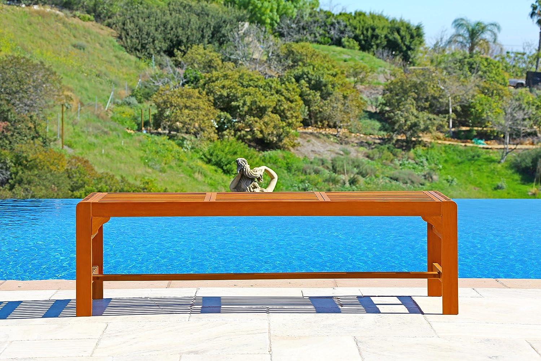 Vifah V1400 Backless 3-Seat Bench