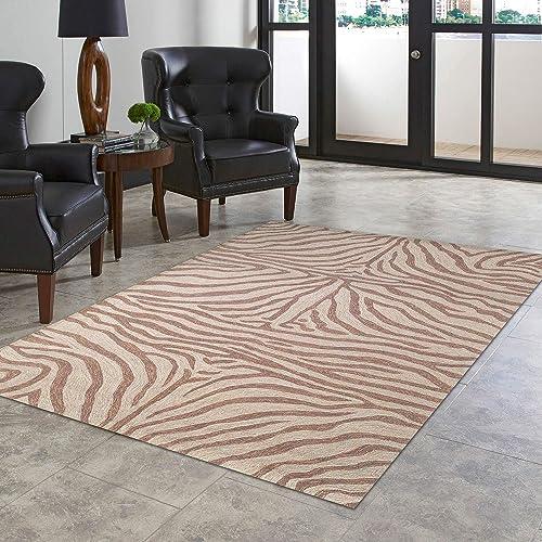 Liora Manne Ravella Area Rug, 8 3 x 11 6 , Zebra Brown