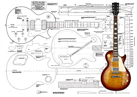 Guitarra eléctrica Luthiers Plans To Build Les Paul: Amazon.es ...