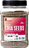 BetterBody Foods Organic Chia Seeds 2lb, Non-GMO Great Taste, Contains 2300mg Omega-3s and 2g of Protein, Good Source of Fiber, Gluten-free, Use in Smoothies or Top Yogurt Soups or Salads