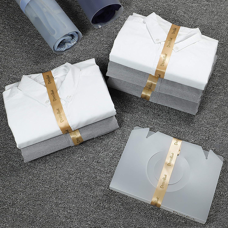 Carpeta de Ropa 6 piezas DressBook Organizador de Armario Camiseta de la Carpeta Organizador de Almacenamiento Plegable Dressbook F/ácil de Ensamblar Camiseta T Tablero Plegable