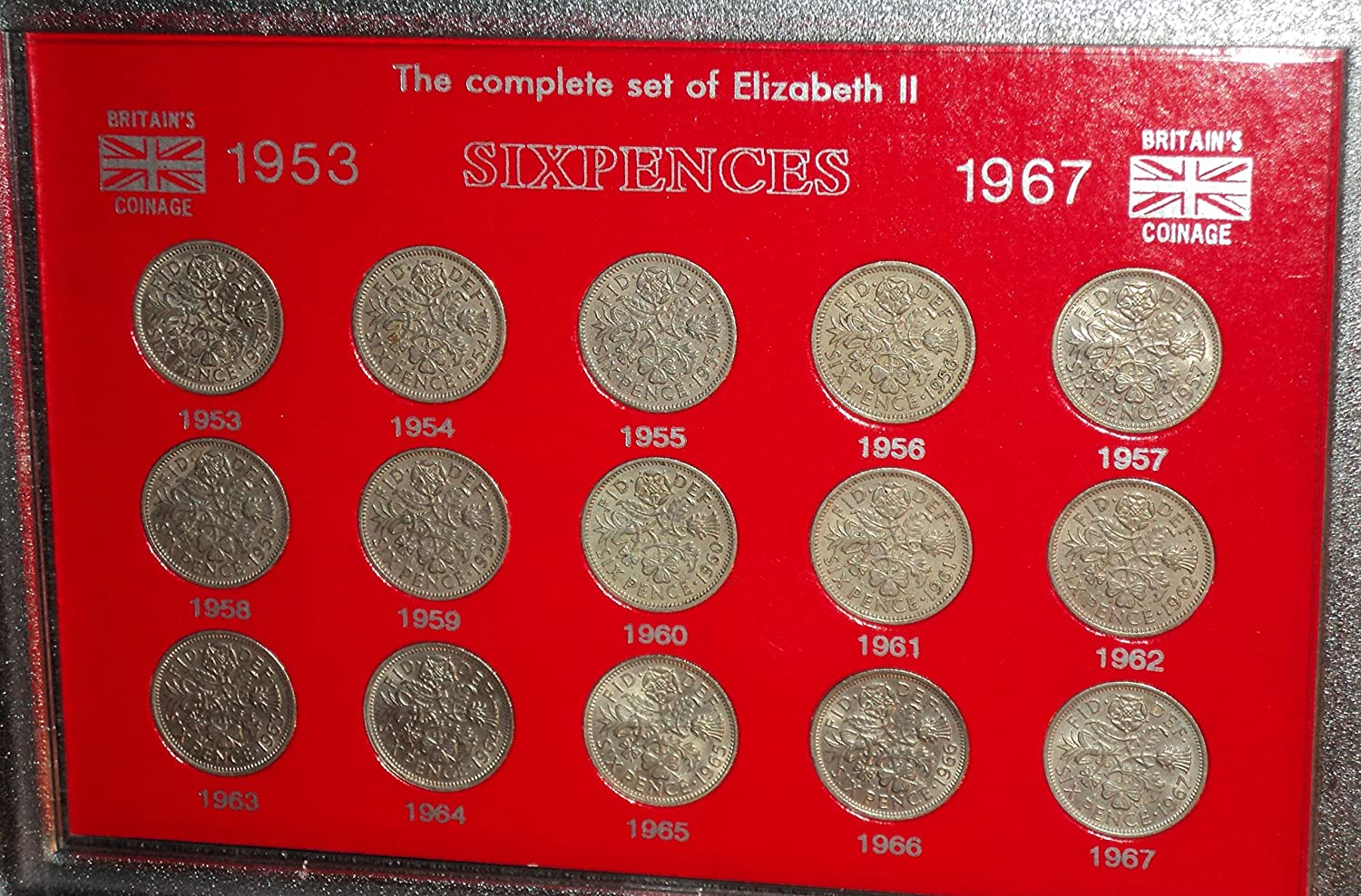 FREE SHIPPING other years also 1957 Silver Birth year set 5 coins