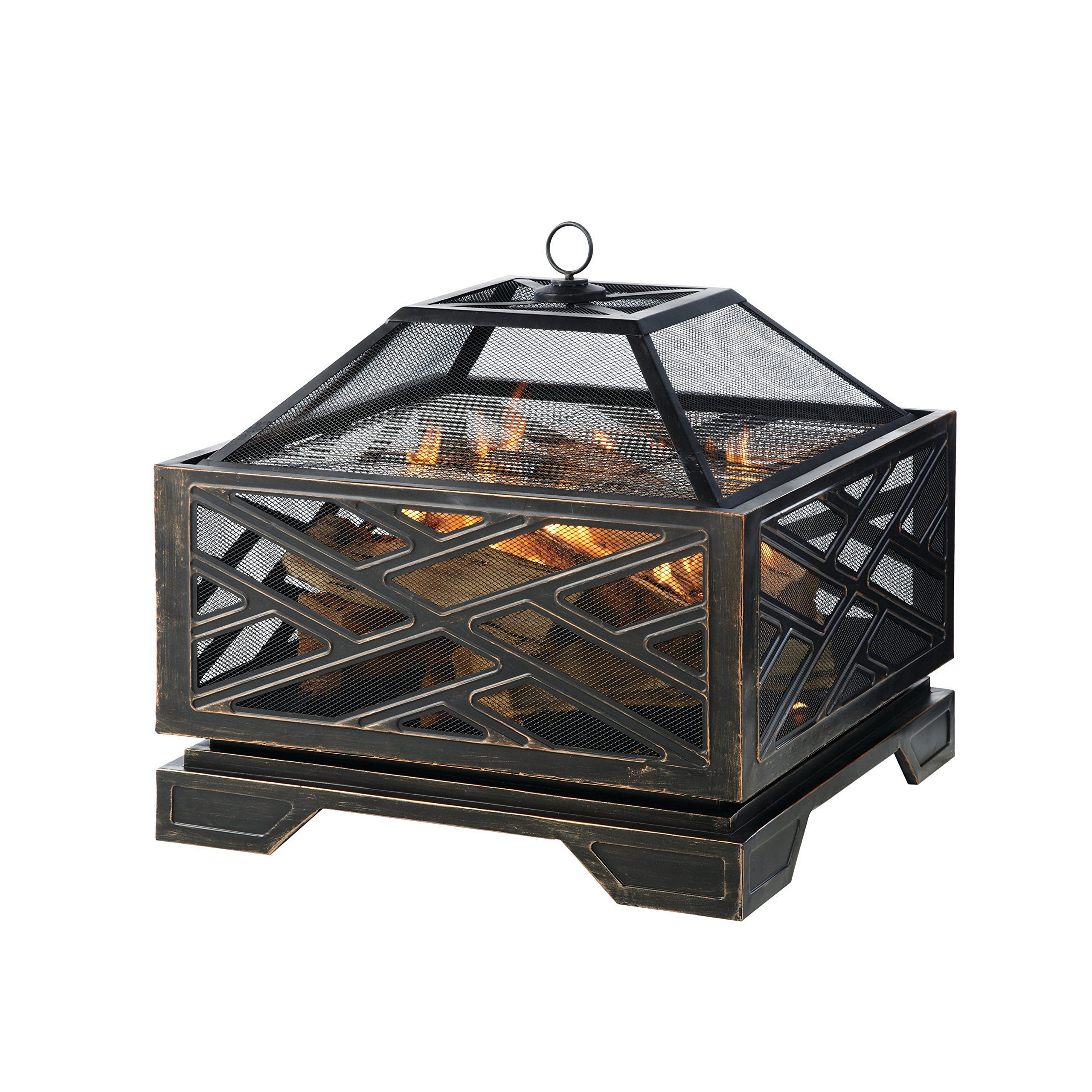 Pleasant Hearth Martin Extra Deep Wood Burning Fire Pit, 26-Inch by Pleasant Hearth