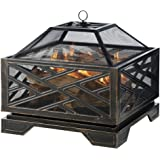 Pleasant Hearth Martin Extra Deep Wood Burning Fire Pit, 26-Inch