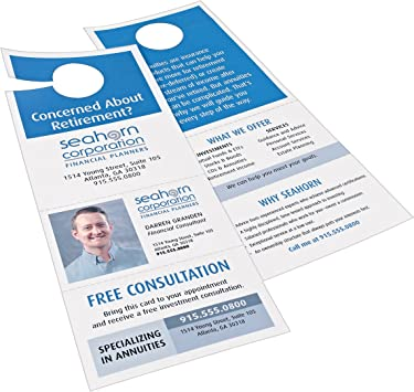 Avery Door Hanger With Tear Away Cards Matte White 4 25 X 11 Inches Pack Of 80 16150