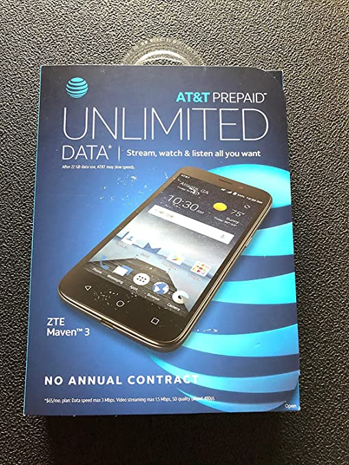 AT&T Prepaid ZTE Maven 3 4G LTE Smartphone Cell Phone  Unlimited Calling,  Texting, Data  5