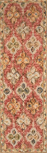 Momeni Rugs Tangier Collection Area Rug, 2 3 x 8 0 Runner, Red