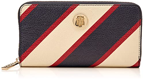 Tommy Hilfiger - Th Core Lrg Za Wallet, Carteras Mujer, Azul (904-