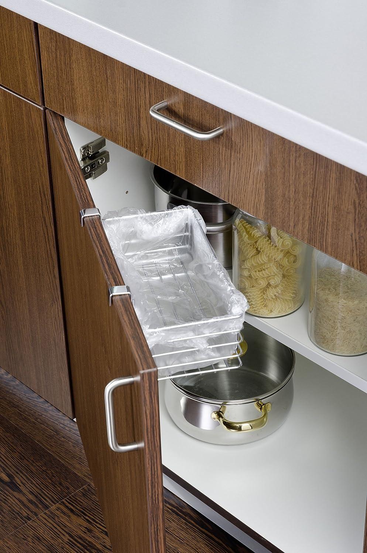 Wenko Clip-On Basket, Silver, Small: Amazon.co.uk: Kitchen & Home