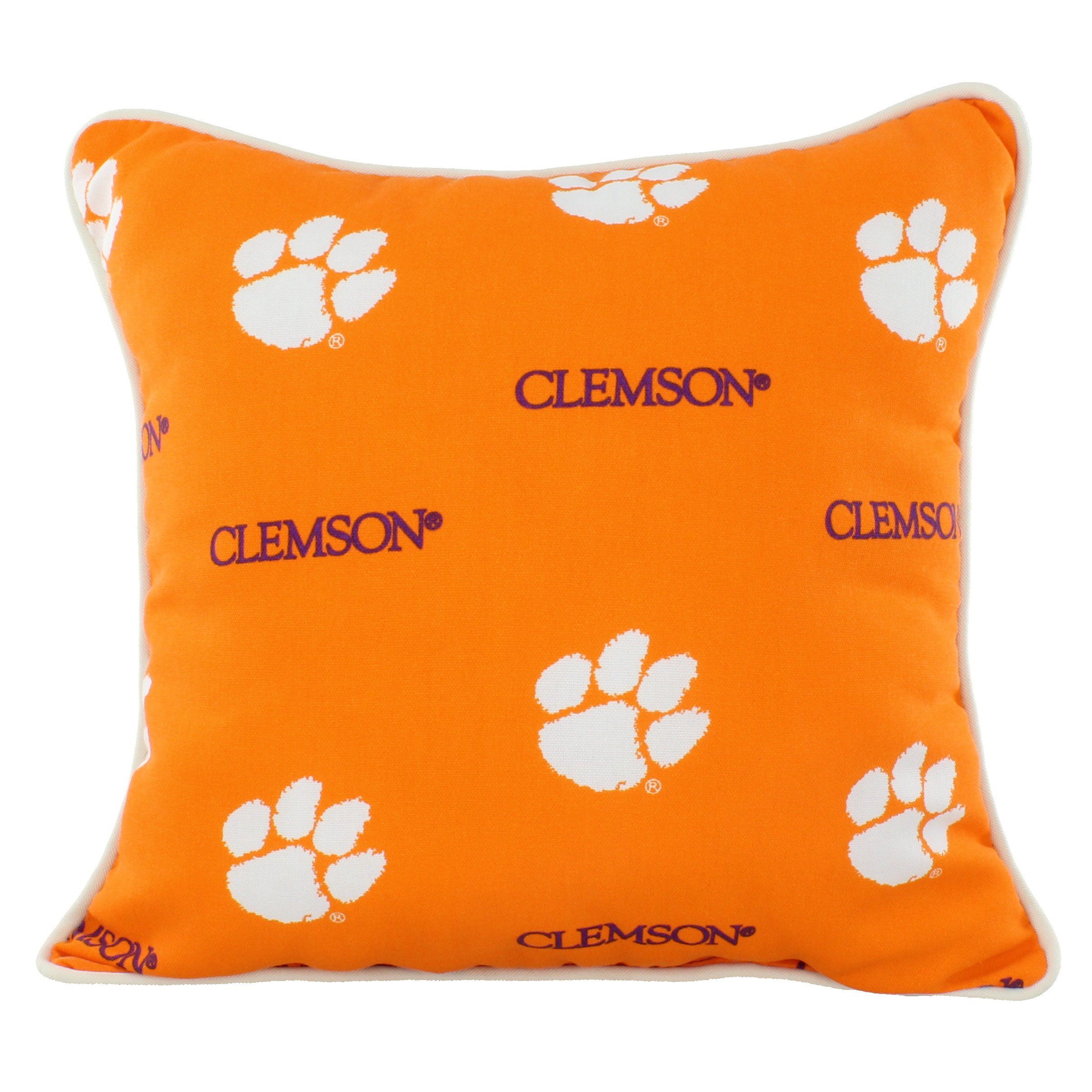 College Covers CLEODP Clemson Tigers Outdoor Decorative Pillow, 16'' x 16'', Orange