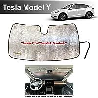 YelloPro - Parasol delantero reflectante para coche, ajuste personalizado, para modelos Tesla y SUV 2020, protección…
