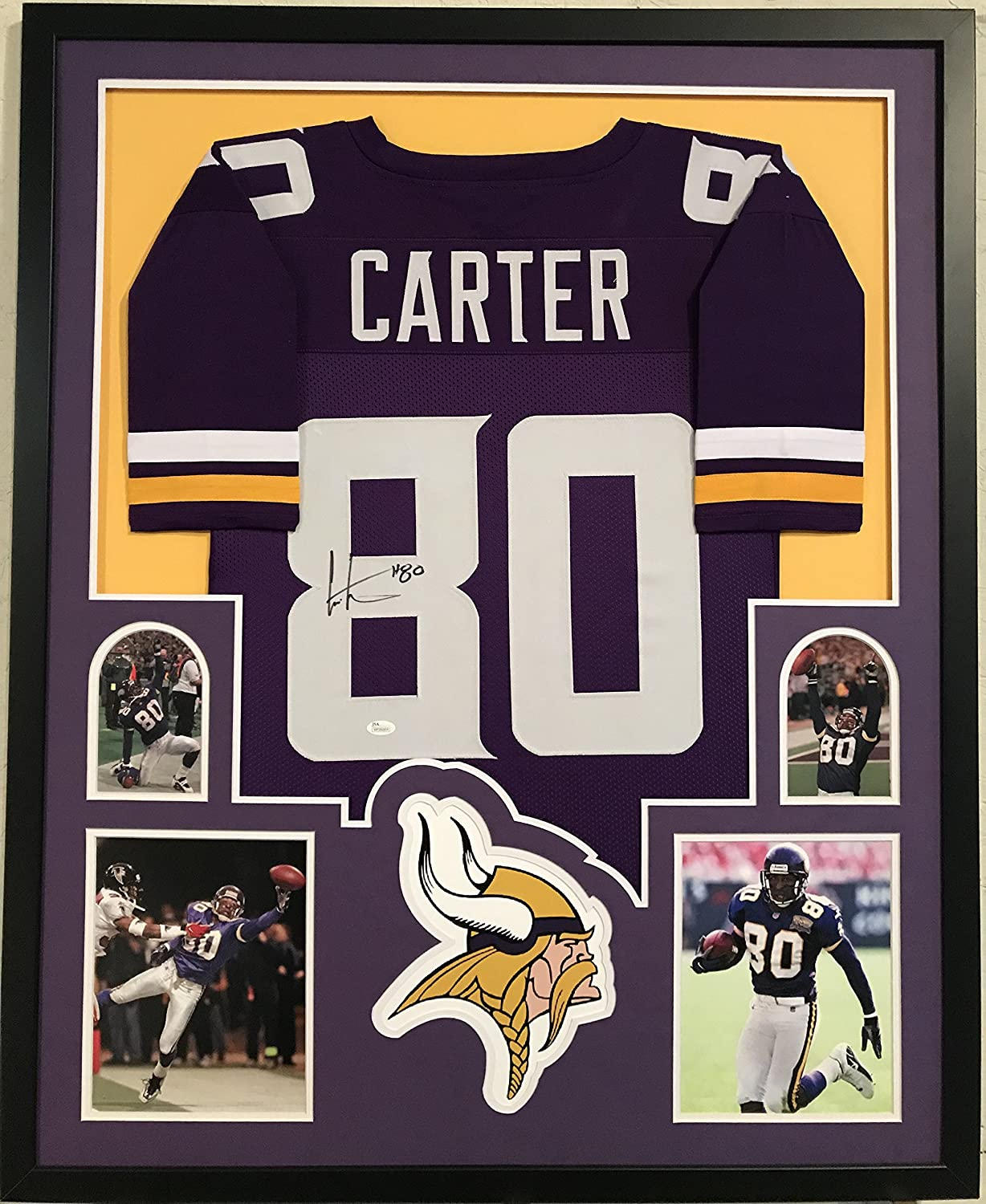 new product 42f27 e3bb1 Chris Carter Signed Autographed Jersey Minnesota Vikings ...