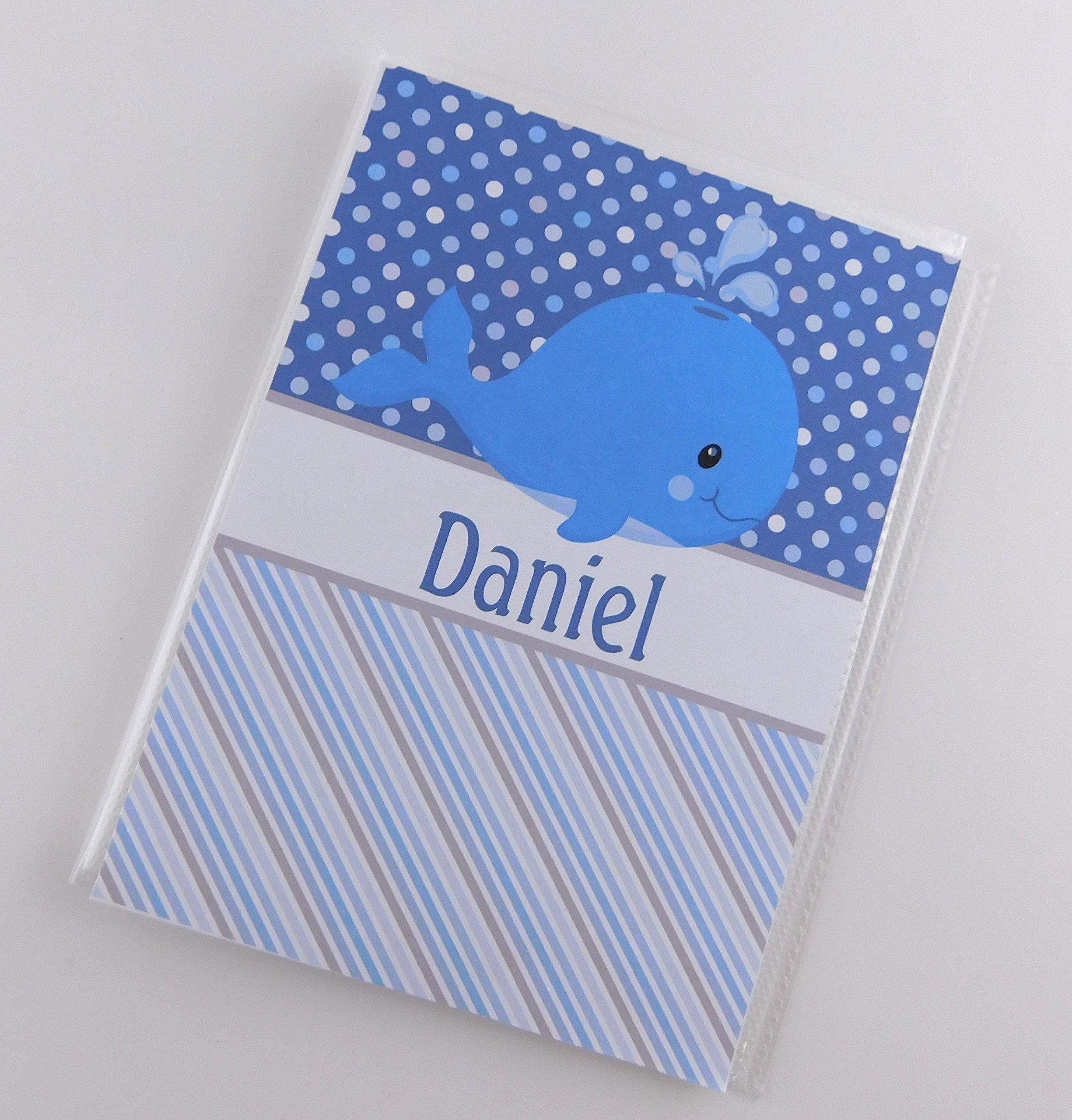 Grandma's Baby Brag Book IA#853 Boy Photo Album 4x6 or 5x7 Pictures Photo Album Blue Whale Polka Dot