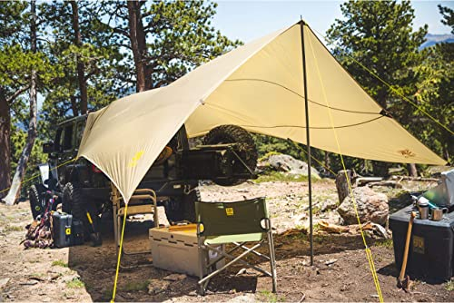 Slumberjack SJK Roadhouse Tarp, Hunting Camping Overland Shelter Protects from Rain Sun