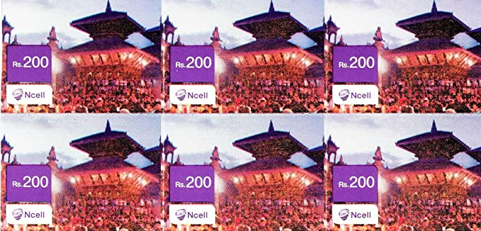 Nepal Ncell Prepaid Top Up Recharge Airtime Voucher