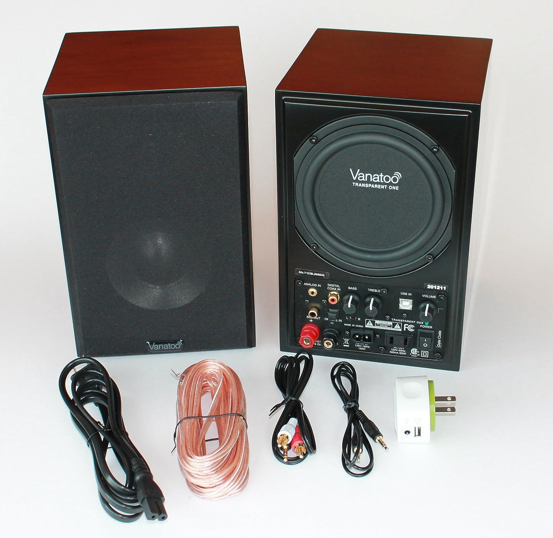 vanatoo transparente UNO altavoces con Bluetooth (cerezo, Bluetooth, juego de 2): Amazon.es: Electrónica