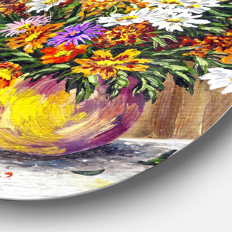Designart MT14701-401 Metal Wall Art 28 H/x/60 W/x/1 D 5PE Orange