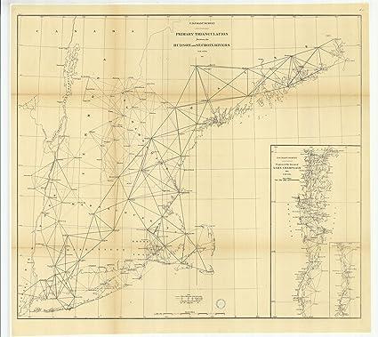 Amazoncom Vintography 18 X 24 Canvas 1875 Us Old Nautical Map - Lake-champlain-on-us-map