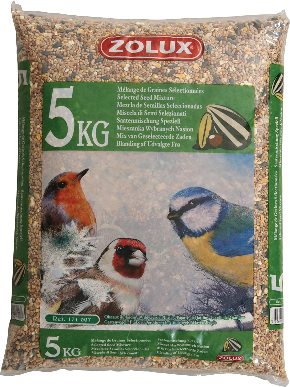 Mezcla de semillas para pájaros para jardín - Saco de 5 kg.