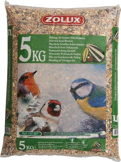 Mezcla de semillas para pájaros para jardín - Saco de 5 kg.: Amazon.es: Jardín