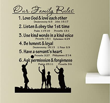 Amazon Our Family Rules Love God And Love Each Others Listen