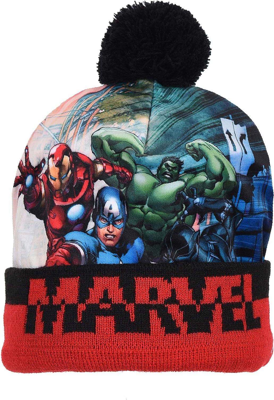 Schal Marvel Jungen Spiderman Avengers Beanie-M/ütze Handschuhe