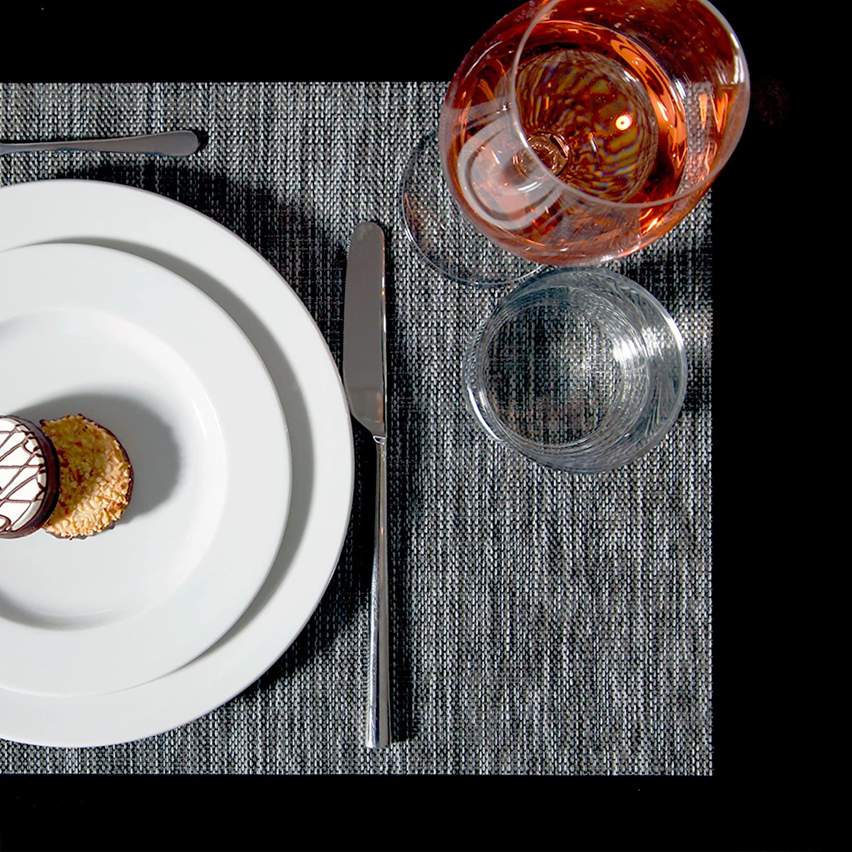 NoblePlacemat rutschfest /& Hitzebest/ändig platzdeckchen,Tischset f/ür Haushaltssteakplatten,Tischmatte f/ür Hotelrestaurants,W/ärmed/ämmung und Verbr/ühschutz,4 St/ück,A