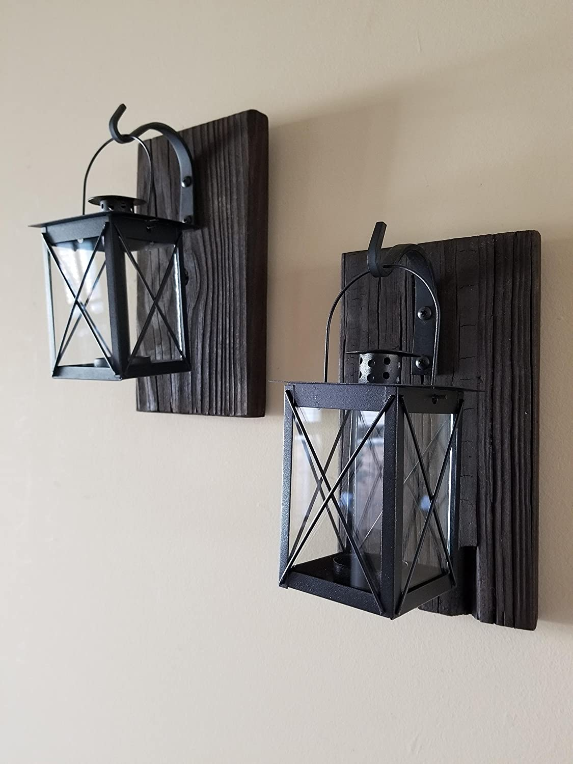 Set of 2 Small Lantern Sconces