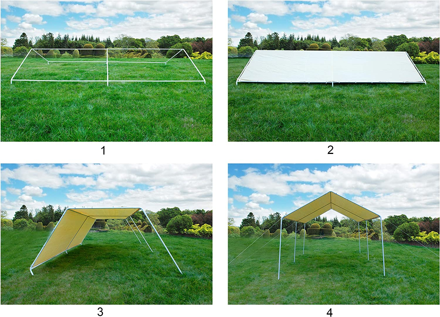 Gaier 10X20 Party Tent Outdoor carport Gazebo Heavy Duty Portable car Garage Canopy w//o Removable sidewalls,Cover for shelter with 6 Steel Legs