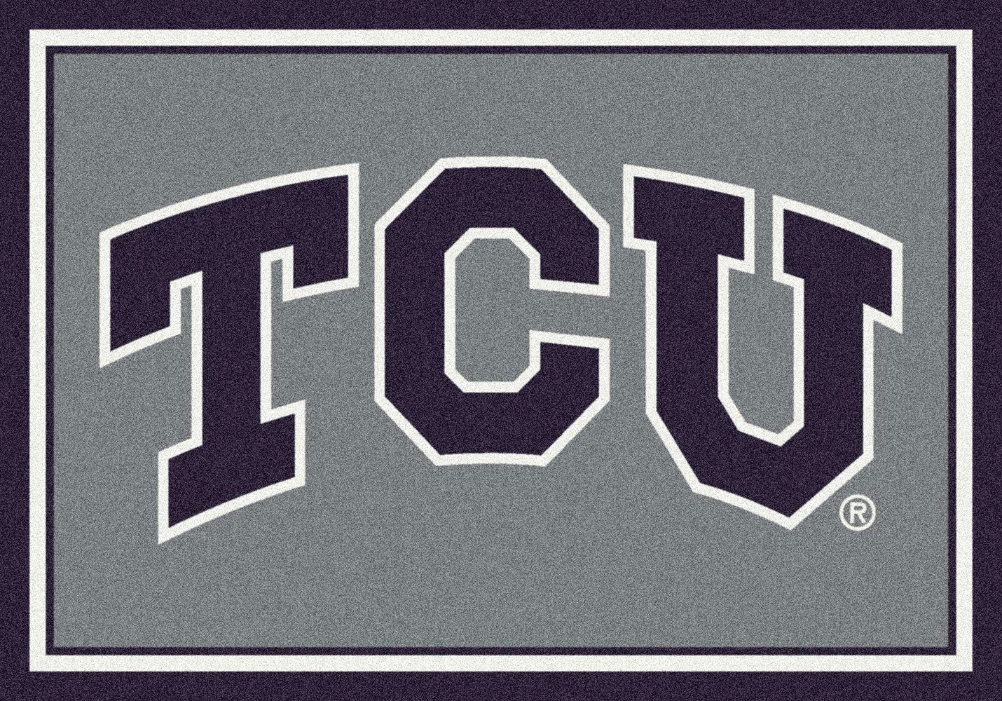 Texas Christian Horned Frogs NCAA College Team Spirit Team Area Rug 7'8''x10'9'' by American Floor Mats