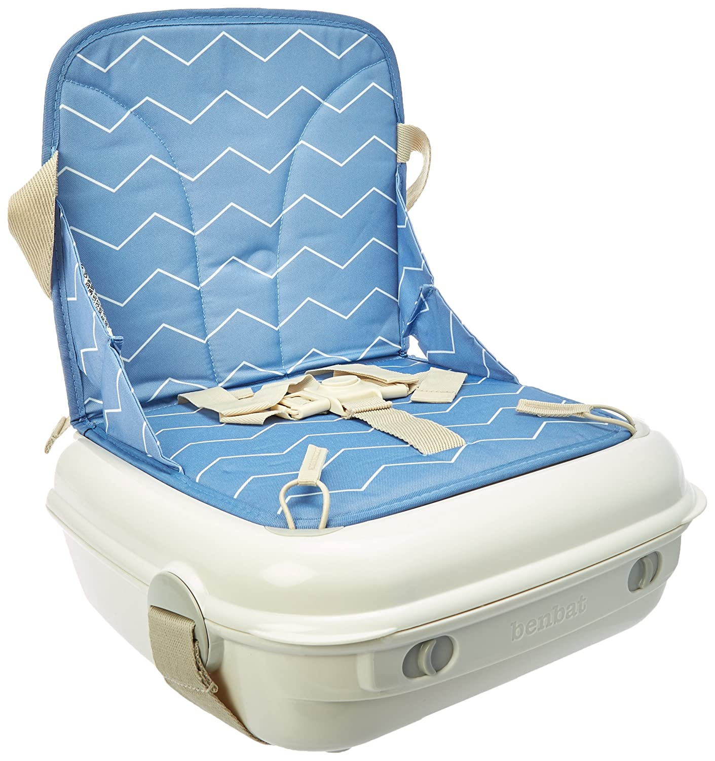 Benbat Yummigo Booster Seat, White & Blue BE-BO510