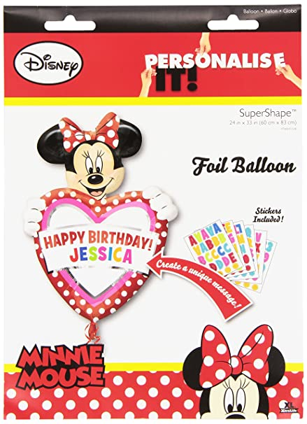 Amazon Minnie Mouse Balloon Personalize W Name Happy Birthday
