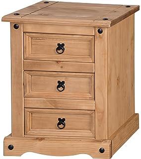 Mercers Furniture Corona 3 Drawer Bedside   Brown