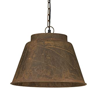 relaxdays lampe suspension luminaire abat jour en forme de cloche en mtal oxyd h - Suspension Luminaire Style Industriel