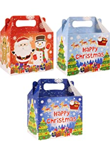 40 Christmas Party Food Boxes ~ Kids Xmas Meal Bag Plate Box ~Gingerbread House