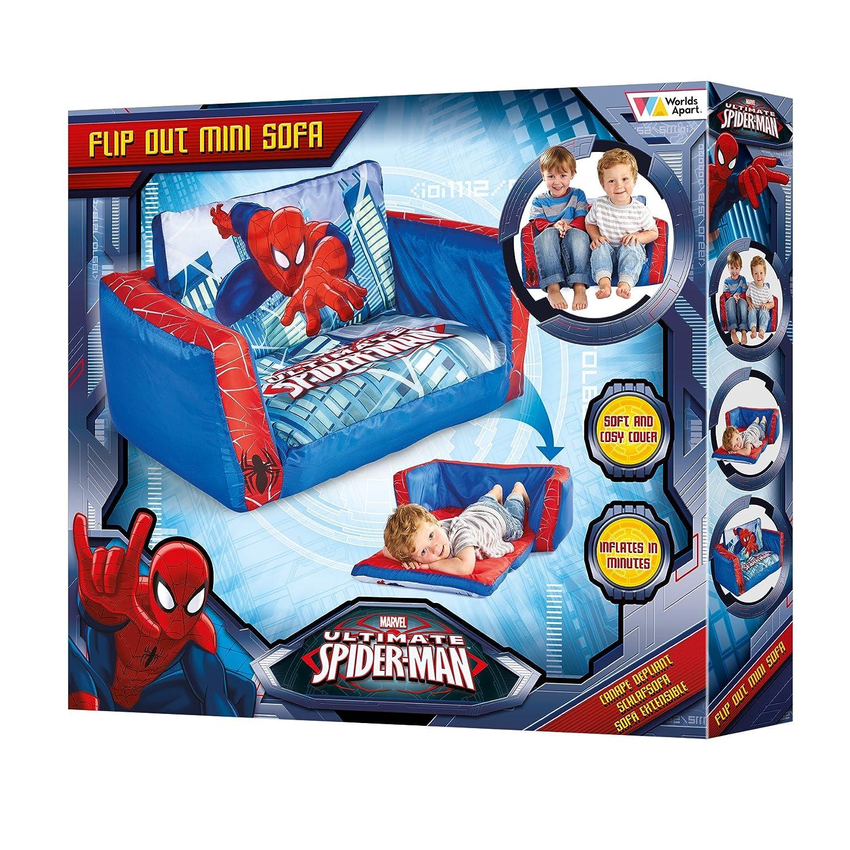 Spiderman Mini sofá y Tumbona desplegable 2 en 1, Poliéster, Azul, 26.00x68.00x105.00 cm: Spider-man: Amazon.es: Hogar