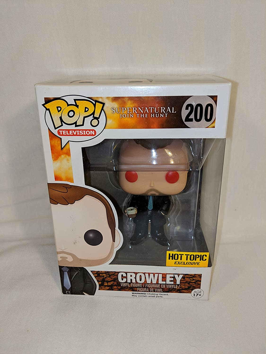 Supernatural Crowley ROT Eye POP! Figur 9 cm Exclusive