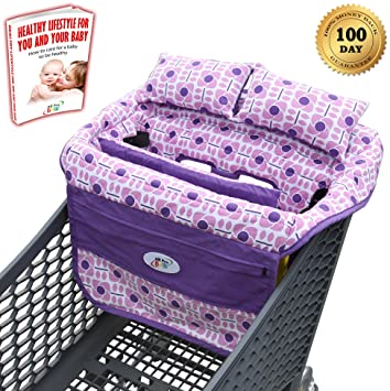 All Pro Baby Shopping Cart Cover With 2 Pillows Padded Cushions