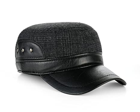 be8c224e4816b Military Style Trapper Dog Ear Flat Top Baseball Cap  Amazon.co.uk  Clothing