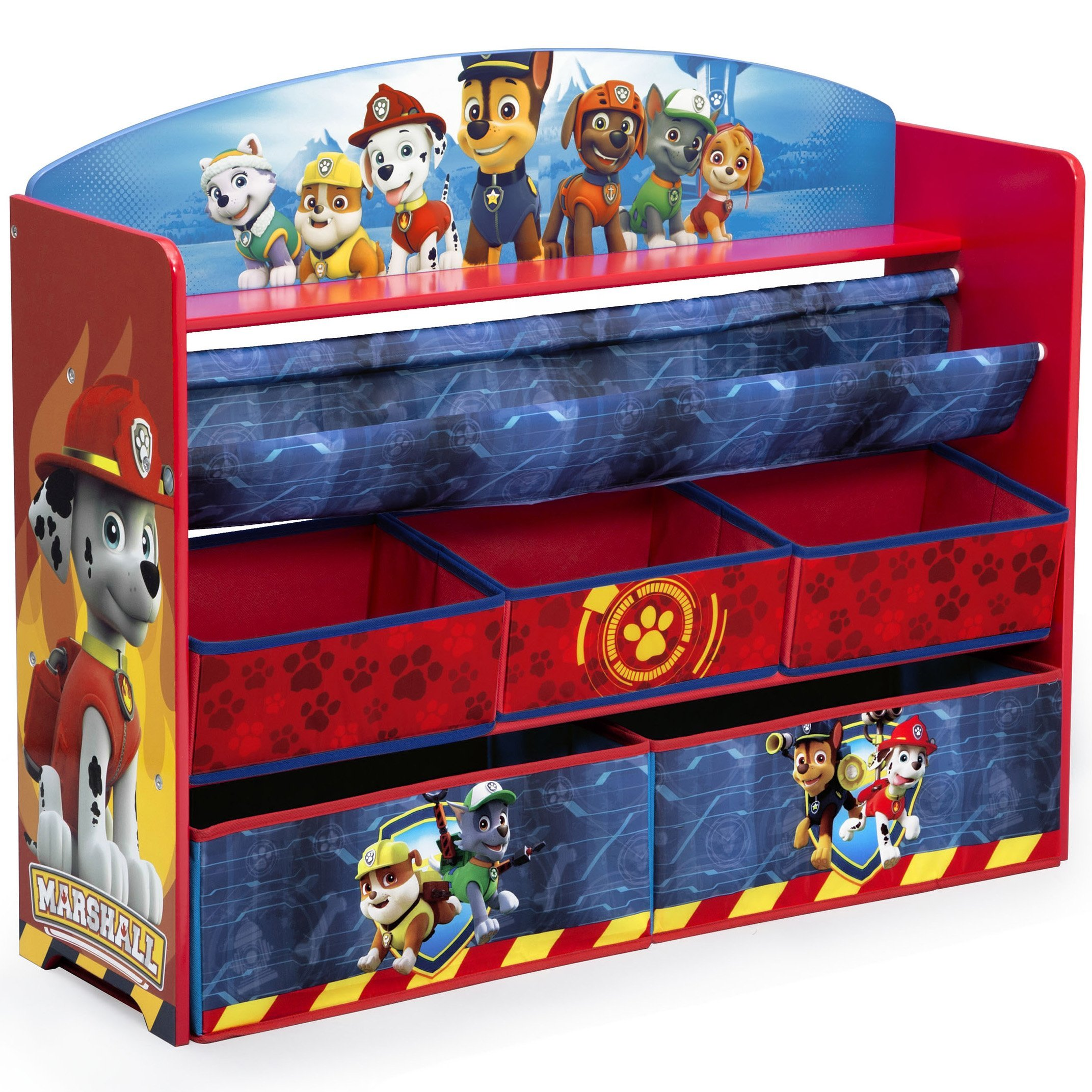 Delta Children Deluxe Book and Toy Organizer, Nick Jr. PAW Patrol by Delta Children